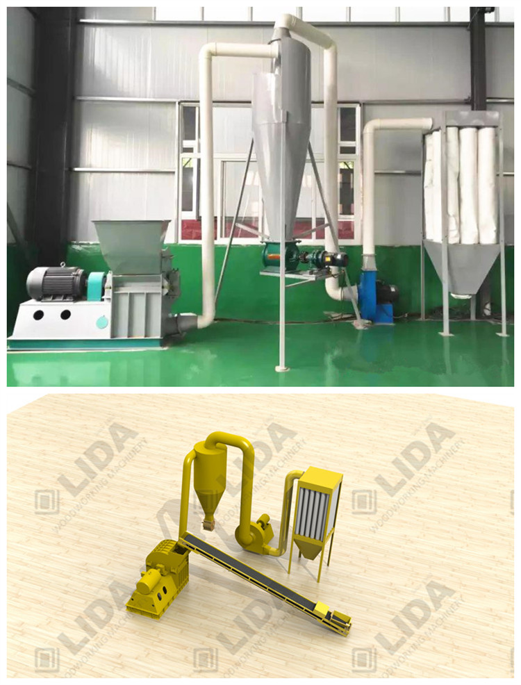 hammer mill machine for making sawdust from wood