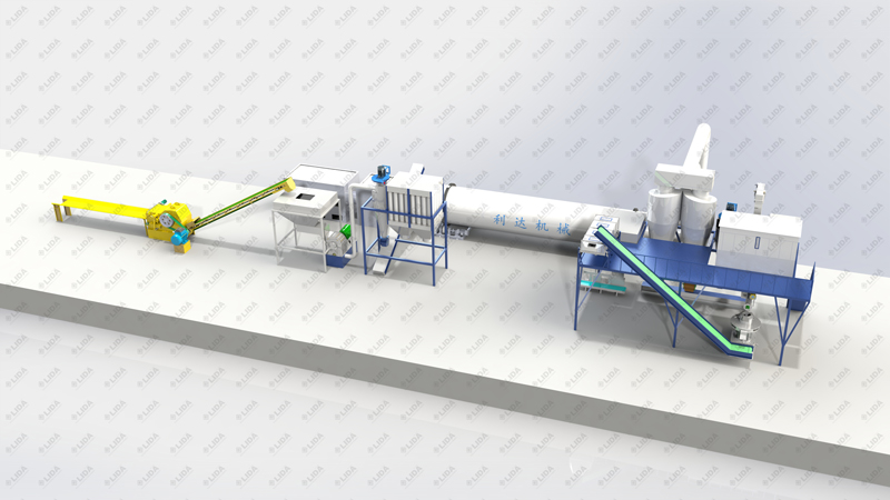 Lida 3t/hour wood pellet production line ,without sawdust ,and space saving