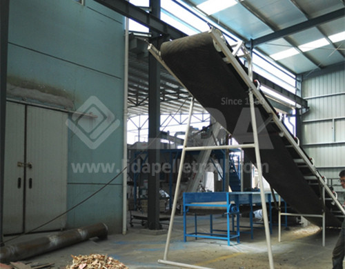 pallet crusher machine magnetic roller