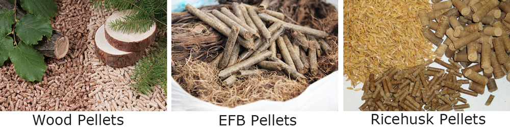 different pellets ,wood pellets ,palm pellets ,ricehusk pellets