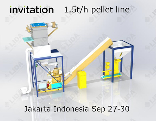 Indonesia pellet line for palm shell